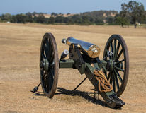Union Army Brass Cannon Stock Photography
