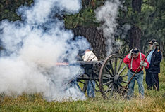 A Union Army Cannon at War Royalty Free Stock Photography
