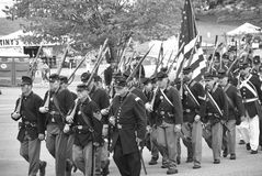 Union army marching to battle Stock Images