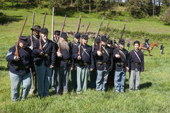 Union army reenactors. Royalty Free Stock Photography