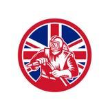Union britannique Jack Flag de sableuse Photographie stock libre de droits