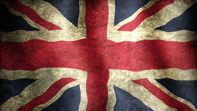 Union British Flag. Animation of an british flag closeup. Stylized to old look stock video