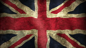 Union British Flag. Animation of an british flag closeup. Stylized to old look stock video footage