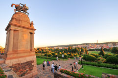 Union Buildings, Pretoria at Sunset. Union Buildings, Pretoria, South Africa at sunset. Adjacent World War I monument Royalty Free Stock Photo