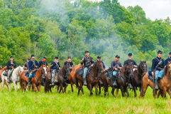 Union cavalry parade Royalty Free Stock Image