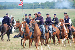 Union cavalry reenactment Stock Photography