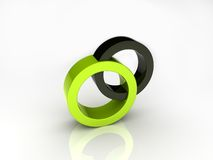 Union of circles Royalty Free Stock Images
