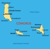 Union of the Comoros - vector map Royalty Free Stock Photos