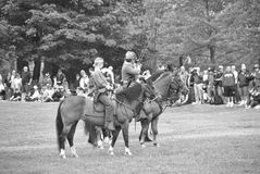 Union and Confederate cavalry Royalty Free Stock Photo