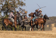 Union and Confederates Engage in Combat Royalty Free Stock Images