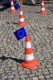 Union EU Drive. On Lowicz Poland Stock Photos