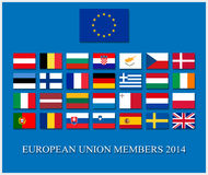 Union européenne 2014 Image libre de droits