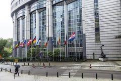 Union européenne Bruxelles Belgique du Parlement européen de Brexit de drapeaux Images stock