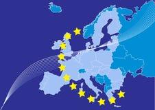 Union européenne, carte d'europa Photographie stock libre de droits
