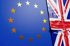 Union européenne contre le R-U Photo libre de droits