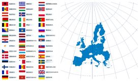 Union européenne de carte vectorielle Photo stock