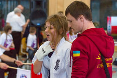 Union européenne KWU du monde de Kyokushin de championnat pour les enfants et la jeunesse 2017 Image stock