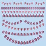 union för buntingflaggastålar Royaltyfri Bild