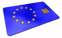 union för symbol för kreditering för 2 kort europeisk Arkivfoto