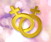 Union of female symbols Royalty Free Stock Photography