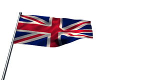 Union flag against white background. Union flag waving against white background stock video footage