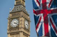 Union Flag And Big Ben Stock Photos