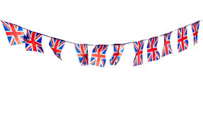 Union Flag Bunting Cut Out. On a White Background Stock Photography