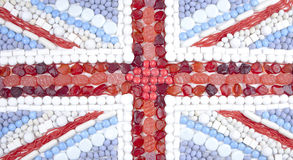 Union Flag Candy Royalty Free Stock Photography