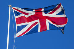 Union Flag Flying Royalty Free Stock Photography