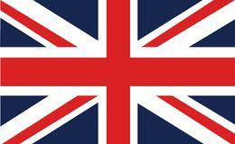 Union flag or union Jack. The Union Jack, or Union Flag, is the national flag of the United Kingdom. The flag also has an official or semi-official status in Royalty Free Stock Image