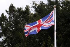 Union Jack. The Union Flag of the United Kingdom flying Stock Photography