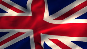 Union flag waving against white background. Close-up of union flag waving against white background stock video