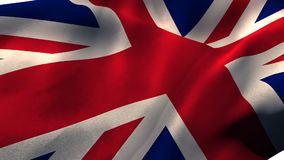 Union flag waving against white background. Close-up of union flag waving against white background stock footage