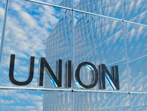 Union. The front of a business building Stock Photography