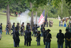 Union infantry column advancing Royalty Free Stock Image