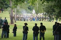Union infantry column advancing Stock Photos