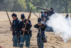 Union Infantry Fire Bacj Royalty Free Stock Photo