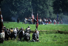 Union infantry fires Stock Photography