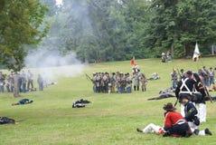 Union infantry line advancing Stock Photos