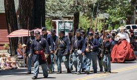 Union Infantryman on Parade Stock Photos