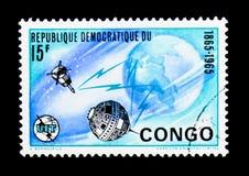 Union Internationale des Télécommunications, serie centenaire, vers 19 image libre de droits