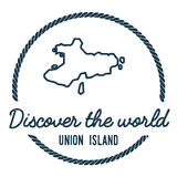 Union Island Map Outline. Vintage Discover the. Stock Images