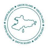 Union Island vector map. Stock Image