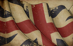 Union Jack 1606–1801 The King`s Colours Old Paper Background Royalty Free Stock Image