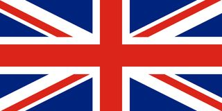 Union Jack Ηνωμένη σημαία Ερυθρός Σταυρός στο συνδυασμένα κόκκινο και το W διανυσματική απεικόνιση