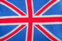 Union Jack. The national flag (Union Jack) of the United Kingdom knitted Stock Photos