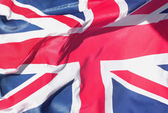 Union jack. Waving in the wind stock photo
