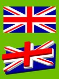 Union Jack. The alternative way of flag design form and perspective Stock Photo