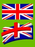 Union Jack. The alternative way of flag design form and perspective royalty free illustration