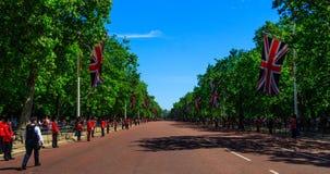 Union Jack & a alameda foto de stock